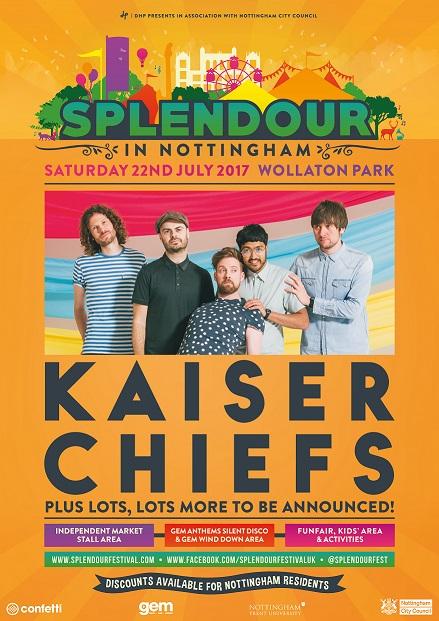 Splendour Festival Lineup Announcement Kaiser Chiefs to Headline