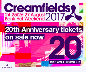 Creamfields announce line up for 20th anniversary events!