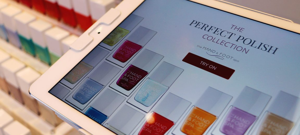 Try before you buy, nail colour technology exclusively at Selfridges.