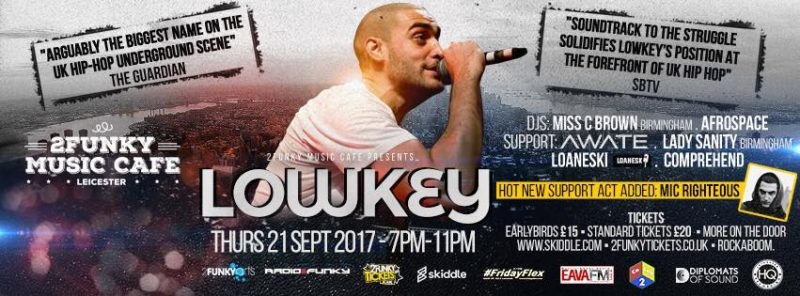 2Funky Music Cafe presents Lowkey live