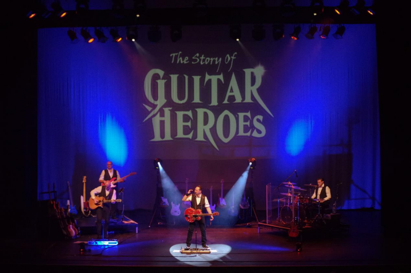 Experience music of legendary guitar heroes when 'The Story of Guitar Heroes' visits PMT Birmingham for ONE NIGHT ONLY next week.