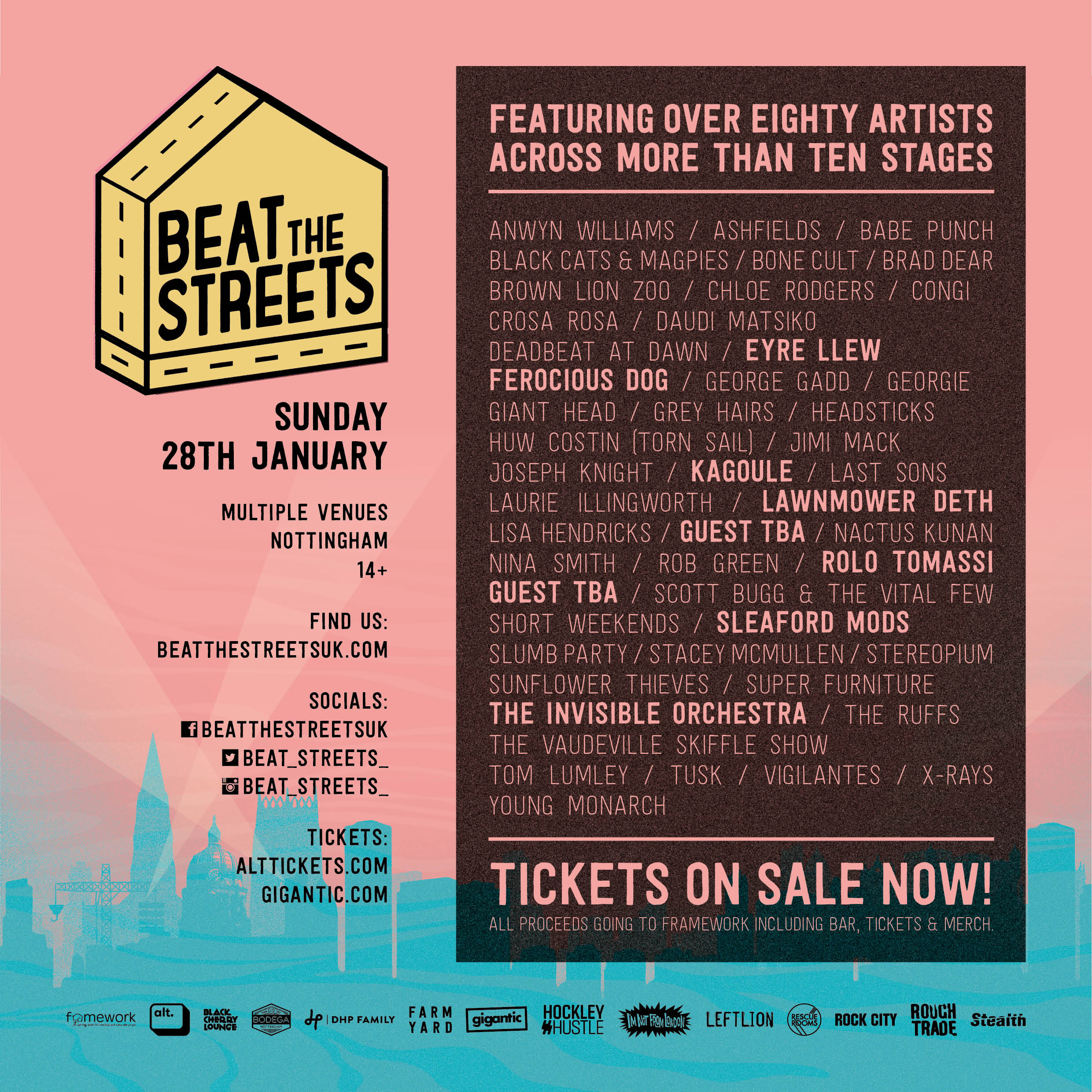 Beat The Streets Line Up Announcement Sixtynine Degrees