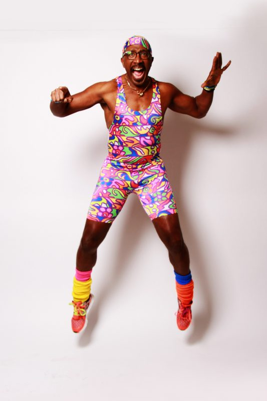 Mr Motivator heads to Nottingham city centre as part of the It's in Nottingham Wellness Week