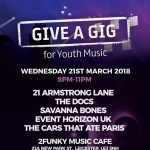Give A Gig Youth Music Fundraiser Event at 2 Funky Music Cafe.
