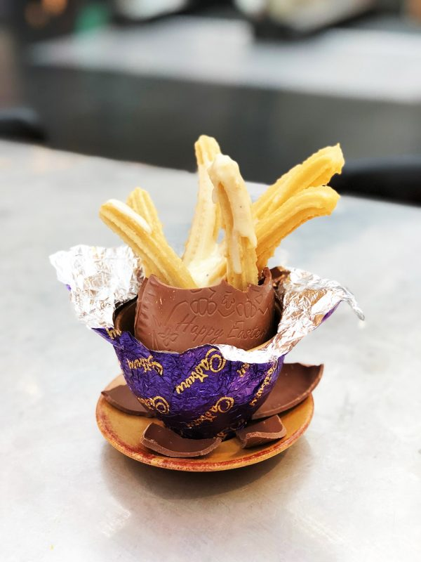 Tapas Revolution are celebrating Easter in style this year with decadent 'Easter Churros' - served in a milk chocolate Easter egg with an indulgent white chocolate sauce for dipping. Priced at £6.95, they are available for a limited time only on Friday 30th and Saturday 31st March.