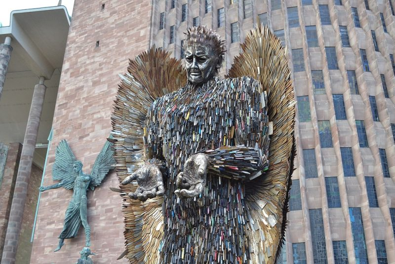 The Knife Angel Lands In The City of Peace & Reconciliation.