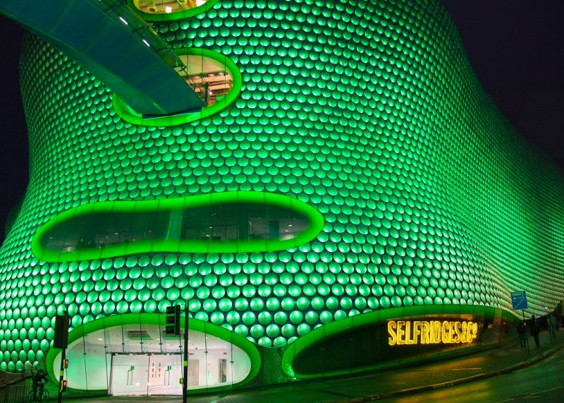 Selfridges Birmingham goes green for St Patrick's Day