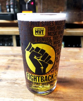 FIGHTBACK launch full range of beers and ciders for music fans to support Music Venue Trust #saveourvenues campaign from the comfort of their own home.